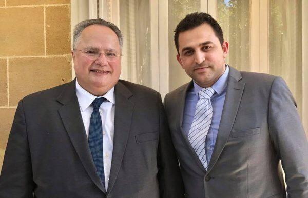 Μαζί με τον Έλληνα Υπουργό Εξωτερικών κ. Νίκο Κοτζιά